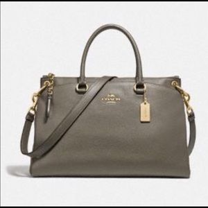 NWT Coach XL Military Green Mia Satchel